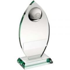 Jade Glass Pool Plaque Trophy TD445-TD