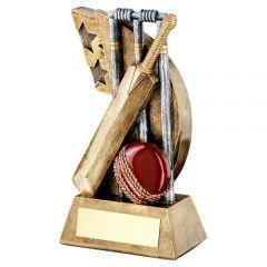 Cricket Bat and Ball Trophy RF626-TD