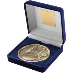 Blue Medal Box & Cricket Medallion TY141-TD