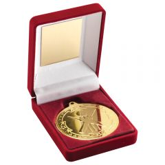 Red Medal Box & Cricket Medal TY40-TD