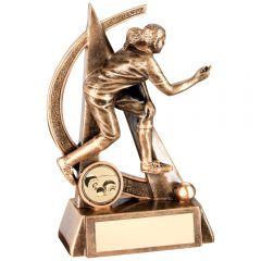 Female Lawn Bowls Geo Figure Trophy RF293-TD