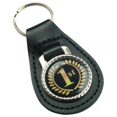 LEATHER KEY FOB WITH 25MM INSERT KF1