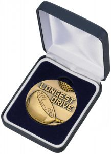 olf Longest Drive Medal and Box MG05A-GWT