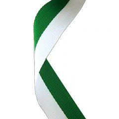 Green/White Medal Ribbon MR004-GW