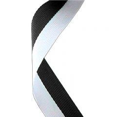 Black/White Medal Ribbon MR005-GW
