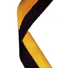 Black/Gold Medal Ribbon MR006-GW