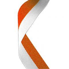 Orange/White Medal Ribbon MR024-GW