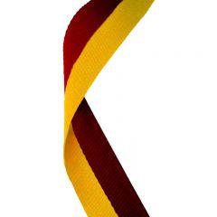 Maroon/Gold Medal Ribbon MR028-GW