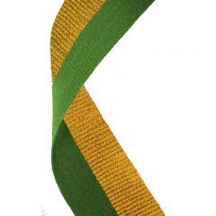 Green/Gold Medal Ribbon MR029-GW