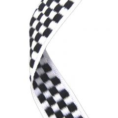 Chequered Flag Medal Ribbon MR030-GW