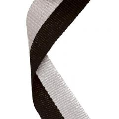 Black/Grey Medal Ribbon MR050-GW