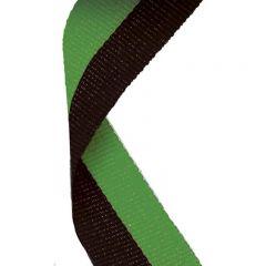 Black/Green Medal Ribbon MR051-GW