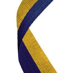 Blue/Gold Medal Ribbon MR054-GW