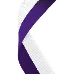Purple/White medal Ribbon MR057-GW