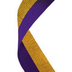 Purple/Gold Medal Ribbon MR058-GW