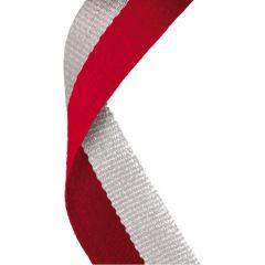 Red/Grey Medal Ribbon MR059-GW