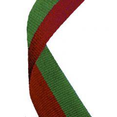 Red/Green medal Ribbon MR060-GW
