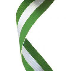 Green/White/Green Medal Ribbon MR062-GW