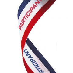 Red/White/Blue Participant medal Ribbon MR066-GW