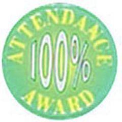 """ATTENDANCE 100% AWARD 1"""" ACRYLIC CENTRE P535-GW"""