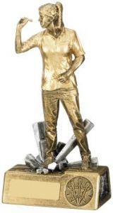 Female Darts Figure Trophy RM735-GWT