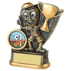 FOOTBALL MAN WITH CUP TROPHY RS248-TWT