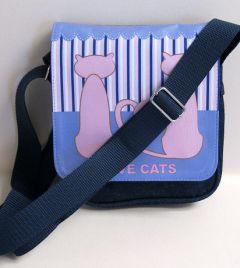 Personalised printed Image shoulder bag small denim