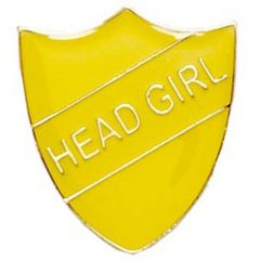 Head Girl Shield badge SB018-GW