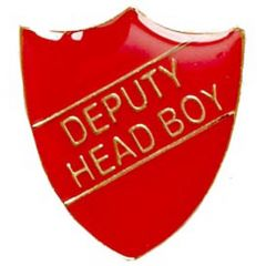 Deputy Head Boy Shield Badge SB020-GW