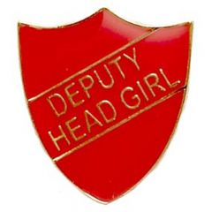 Deputy Head Girl Shield Badge SB021-GW