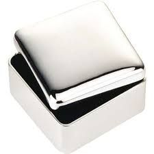 Nickel Plated Square Jewellery/Trinket Box GG30-MG