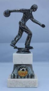 TEN PIN BOWLING MALE FIGURE TROPHY 196C-TD