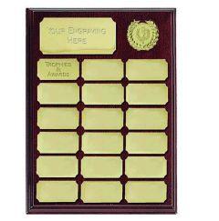Ashfield Economy Gold Presentation Plaques W411T-GW